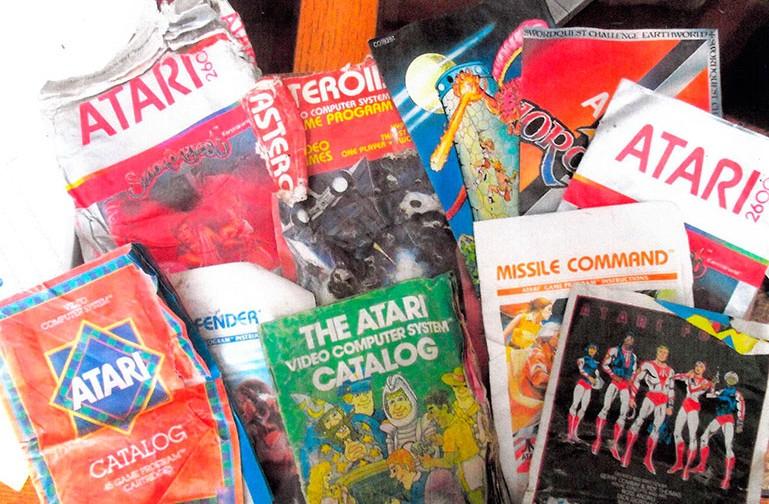 April 2014 - Eine Auswahl verschiedener wieder geborgener Atari-Spiele