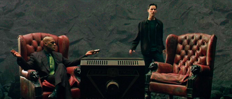 Szene aus Matrix (R: Wachowski Geschwister, 1999)